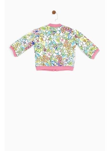 BG Baby Kız Bebek Desenli Ceket 19SS1BG2712 Renkli